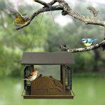 Pet Online Mangeoire d'oiseaux de cabine en métal imperméable à l'eau automatique extérieure de parc d'oiseau de la marque Pet Online image 3 produit