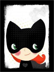 POSTERLOUNGE Alu Dibond 60 x 80 cm: Superhero - cat de Little Miss Arty de la marque POSTERLOUNGE image 0 produit
