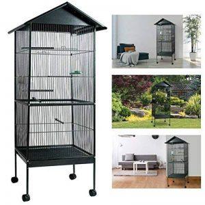 ProBache - Volière cage à oiseaux avec toit 4 roues en métal pour canaris, perruches de la marque Probache image 0 produit