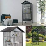 ProBache - Volière cage à oiseaux avec toit 4 roues en métal pour canaris, perruches de la marque Probache image 1 produit