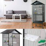 ProBache - Volière cage à oiseaux avec toit 4 roues en métal pour canaris, perruches de la marque Probache image 3 produit