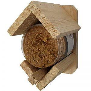Proheim Mangeoire à oiseaux avec beurre de cacahuète intégré - Mangeoire support à beurre de cacahouète 13x8x12 cm en bois FSC de la marque PROHEIM image 0 produit