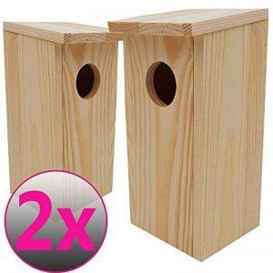 PROHEIM Nichoirs pour oiseaux SETx2 en bois 22cm - Mangeoire idéal pour mésanges, mésanges charbonnière, rouges-queues et d'autres petits oiseaux de la marque PROHEIM image 0 produit