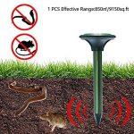 Pronghorn Répulsif Taupe Solaire Ultrasons Anti Souris Rongeur Rat Serpent Mulot Animaux Exterieur Jardin de la marque Pronghorn image 4 produit