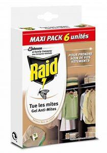 Raid Gel Anti-Mites, Senteur Bois de Cèdre, Maxi Pack, Lot de 6 de la marque Raid image 0 produit