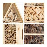 Relaxdays Hôtel à insectes sur pied nature XXL abri refuge nichoir maison abeille papillon coccinelles HxlxP: 79 x 49 x 12 cm, nature de la marque Relaxdays image 3 produit