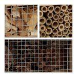 Relaxdays Hôtel à insectes en bois à suspendre abri abeille refuge papillon grillage HxlxP: 31 x 30,5 x 9,5 cm, nature de la marque Relaxdays image 2 produit