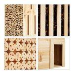 Relaxdays Hôtel à insectes en bois XXL abri abeilles papillon jardin balcon hérisson HxlxP: 118 x 57 x 24 cm, nature de la marque Relaxdays image 3 produit