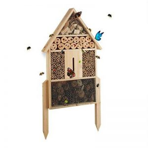 Relaxdays Hôtel à insectes nature L abri refuge maison abeille papillon coccinelle HxlxP: 60,5 x 37 x 9 cm, nature de la marque Relaxdays image 0 produit