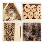 Relaxdays Hôtel à insectes nature L abri refuge maison abeille papillon coccinelle HxlxP: 60,5 x 37 x 9 cm, nature de la marque Relaxdays image 3 produit