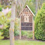 Relaxdays Hôtel à insectes sur pied nature XXL abri refuge nichoir maison abeille papillon coccinelles HxlxP: 79 x 49 x 12 cm, nature de la marque Relaxdays image 1 produit