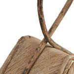 Relaxdays Nichoir à oiseaux décoration maison à oiseaux en bois à suspendre villa fait main, nature de la marque Relaxdays image 2 produit