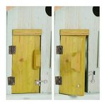 Relaxdays Nichoir à oiseaux en bois forme de maison avec porte et fenêtre HxlxP: 25,5 x 15,8 x 13 cm, bleu clair de la marque Relaxdays image 3 produit