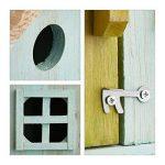 Relaxdays Nichoir à oiseaux en bois forme de maison avec porte et fenêtre HxlxP: 25,5 x 15,8 x 13 cm, bleu clair de la marque Relaxdays image 4 produit