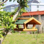 Sauvage Oiseau Feeder En Bois Maison Des Oiseaux De Plein Air Observation Des Oiseaux Villa Horticole Jardin Oiseau Automatique Feeder. Cacoffay de la marque Caco.Ffay image 3 produit