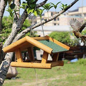 Sauvage Oiseau Feeder En Bois Maison Des Oiseaux De Plein Air Observation Des Oiseaux Villa Horticole Jardin Oiseau Automatique Feeder. Cacoffay de la marque Caco.Ffay image 0 produit