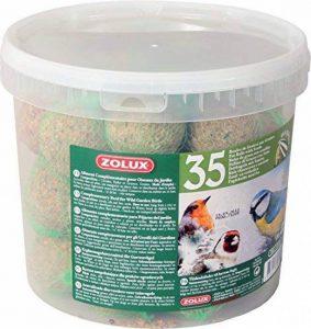 Seau de 35 boules de graisse de 90g avec filet pour oiseaux du ciel/ZOLUX de la marque Zolux image 0 produit