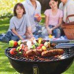 SONGMICS Gril à charbon de bois avec couvercle, barbecue à boule transportable, barbecue à trépied récupérateur cendres - pour les fêtes de jardin et le camping -Petit - GBQ14BK de la marque SONGMICS image 4 produit