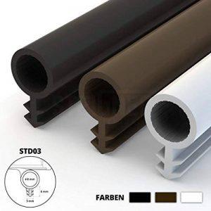 STEIGNER Joint de Porte et de Fenêtre STD03 10 m 8 mm Joint d'Étanchéité en Caoutchouc Noir PVC Aluminium de la marque STEIGNER image 0 produit