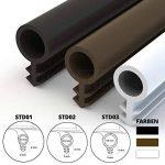 STEIGNER Joint de Porte et de Fenêtre STD03 10 m 8 mm Joint d'Étanchéité en Caoutchouc Noir PVC Aluminium de la marque STEIGNER image 4 produit