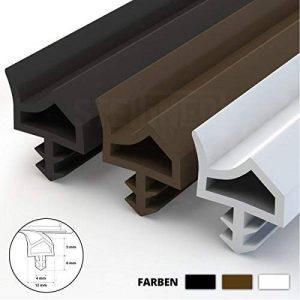 STEIGNER Joint de Porte et de Fenêtre STD06 30 m 12 mm Joint d'Étanchéité en Caoutchouc Blanc PVC Aluminium de la marque STEIGNER image 0 produit