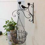 Sue Supply fer à repasser support Cintre Crochet support pour pot de fleur balcon à suspendre au mur extérieur Plante Bracket Support Plante à suspendre Crochet mural, classique Blanc et Noir de la marque Sue Supply image 3 produit