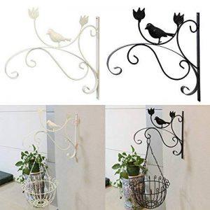 Sue Supply fer à repasser support Cintre Crochet support pour pot de fleur balcon à suspendre au mur extérieur Plante Bracket Support Plante à suspendre Crochet mural, classique Blanc et Noir de la marque Sue Supply image 0 produit
