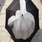 SUNNIOR érection de pliage Creative doigt du milieu parapluie / Fuck the pluie Umbrella, Noir de la marque SUNNIOR image 2 produit