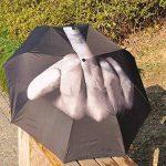 SUNNIOR érection de pliage Creative doigt du milieu parapluie / Fuck the pluie Umbrella, Noir de la marque SUNNIOR image 3 produit