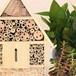SY-Online Hôtel à insectes en bois–29x 9.5x 39cm–Bois naturel insectes Maison–Abri de jardin en bambou gigognes Habitat pour abeilles Papillons coccinelles de la marque SY-Online image 2 produit