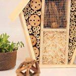 SY-Online Hôtel à insectes en bois–34x 14x 40.5cm–Bois naturel insectes Maison–Abri de jardin en bambou gigognes Habitat pour abeilles Papillons coccinelles de la marque SY-Online image 2 produit