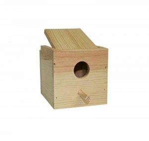 takestop nid en bois 12.5x 13.5x 11.5cm à suspendre accroché pour oiseaux petits animaux exotiques rongeurs hamsters oiseaux de la marque takestop image 0 produit