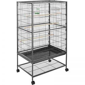 TecTake Volière pour oiseaux cage sur roulettes canaries perroquet perruches canaris - diverses modèles - (sans toit II no. 402287) de la marque TecTake image 0 produit