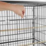 TecTake Volière pour oiseaux cage sur roulettes canaries perroquet perruches canaris - diverses modèles - (sans toit II no. 402287) de la marque TecTake image 3 produit