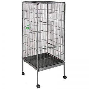 TecTake Volière pour oiseaux cage sur roulettes canaries perroquet perruches canaris - diverses modèles - (sans toit | no. 401004) de la marque TecTake image 0 produit