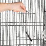 TecTake Volière pour oiseaux cage sur roulettes canaries perroquet perruches canaris - diverses modèles - (sans toit | no. 401004) de la marque TecTake image 4 produit