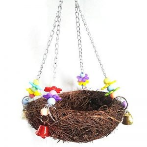Teenxful Bluelans Pet Parrot jouet Nid d'oiseau à suspendre calopsitte élégante perruche Climb Mâcher balançoire Nid de la marque Bluelans image 0 produit