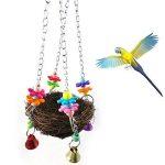 Teenxful Bluelans Pet Parrot jouet Nid d'oiseau à suspendre calopsitte élégante perruche Climb Mâcher balançoire Nid de la marque Bluelans image 1 produit