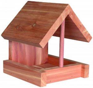 Trixie Mangeoire, bois de cèdre, pour oiseaux, 16 × 15 × 13 cm, naturel de la marque Trixie image 0 produit