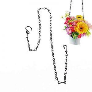 UEETEK 90cm Pet suspendus chaîne pour mangeoire jardinières lanternes fleur panier écureuils perroquets colibris de la marque UEETEK image 0 produit
