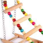 UEETEK Bois animal oiseau jouet suspendu escalade pont Birdcage Ladder pour perruches calopsittes perroquet oiseau Pet formation (petite taille) de la marque UEETEK image 3 produit