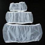 UEETEK Housse pour Cage Oiseaux Maille Couverture Protection Cage Oiseaux Perruches Canaris Attrape Graine Blanc Taille L de la marque UEETEK image 4 produit