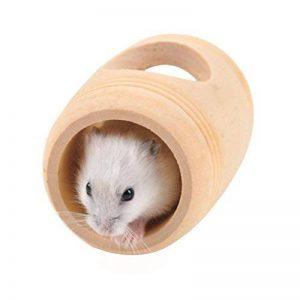 UEETEK Maison de jeu pour hamster Habitat en bois en forme de Tonneau pour Hamster,Écureuil,Gerbille de la marque UEETEK image 0 produit