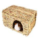 UEETEK Naturel fait à la main Herbe Hut Lit Maison Paille Herbe Oiseau Cubby Nid Cage Pour Lapin Lapin Hamster Gerbille Chinchillas de la marque UEETEK image 3 produit