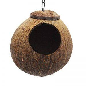UEETEK Nid d'oiseaux Nid de coquille de noix de coco pour perruches Budgerigar et petit animal domestique de la marque UEETEK image 0 produit