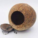 UEETEK Nid d'oiseaux Nid de coquille de noix de coco pour perruches Budgerigar et petit animal domestique de la marque UEETEK image 2 produit