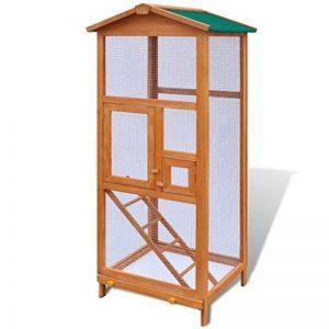 vidaXL Cage à oiseaux maisons pour oiseaux volière Bois 65 x 63 x 165 cm de la marque vidaXL image 0 produit