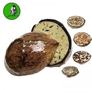 Vogelfood Lot de 10les noix de coco moitié Mangeoire à oiseaux Graisse Doublure Doublure d'hiver de la marque Vogelfood image 0 produit