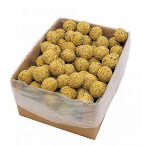 Vogelfood Lot de 100 boules de graisse pour mésanges, sans filets 100 x 90g = 9kg Pour oiseaux sauvages Toute l'année de la marque vogelfood Samore GmbH image 0 produit