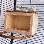 Vogelgaleria Niche à oiseau en bois avec avancées perchoirs Pour cage à oiseau ou volière de la marque Vogelgaleria image 4 produit